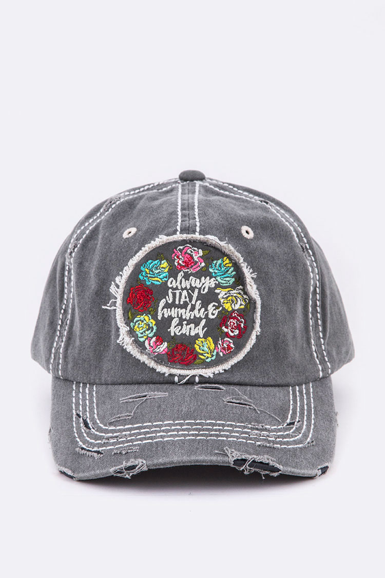 Humble & Kind Embroidery Vintage Cap