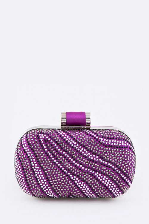 Crystal Zebra Box Clutch