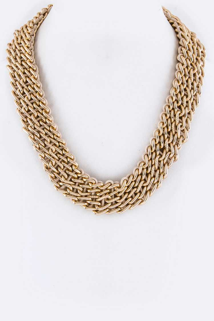 Laced Chain Necklace