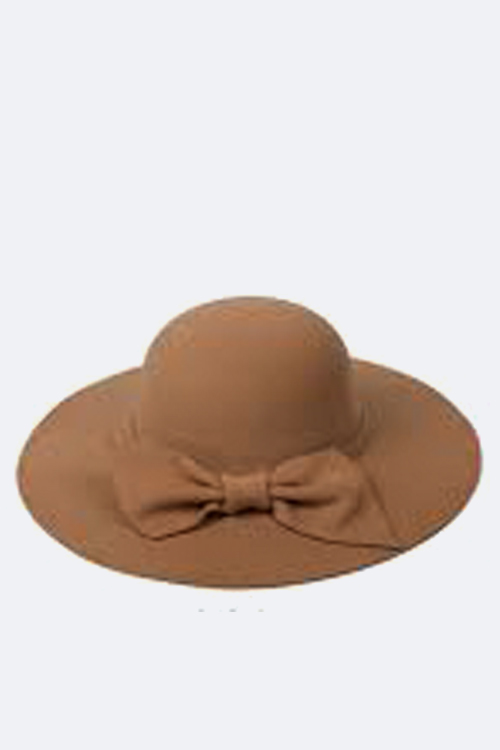 Jumbo Bow Felt Floppy Hat