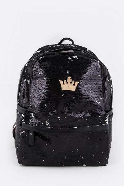Girly Sequins Statement Fashion Backpack