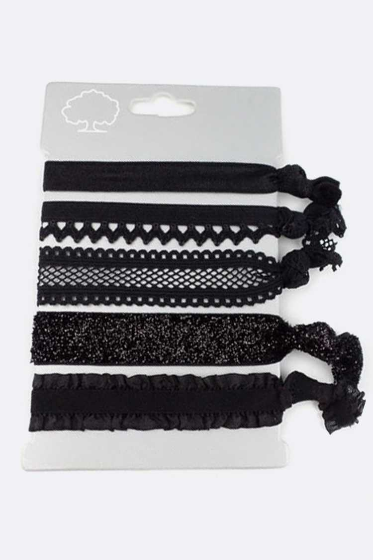 Assorted Lace Hair Ties Set
