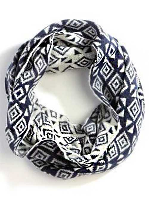 Geo Pattern Fashion Infinity Scarf