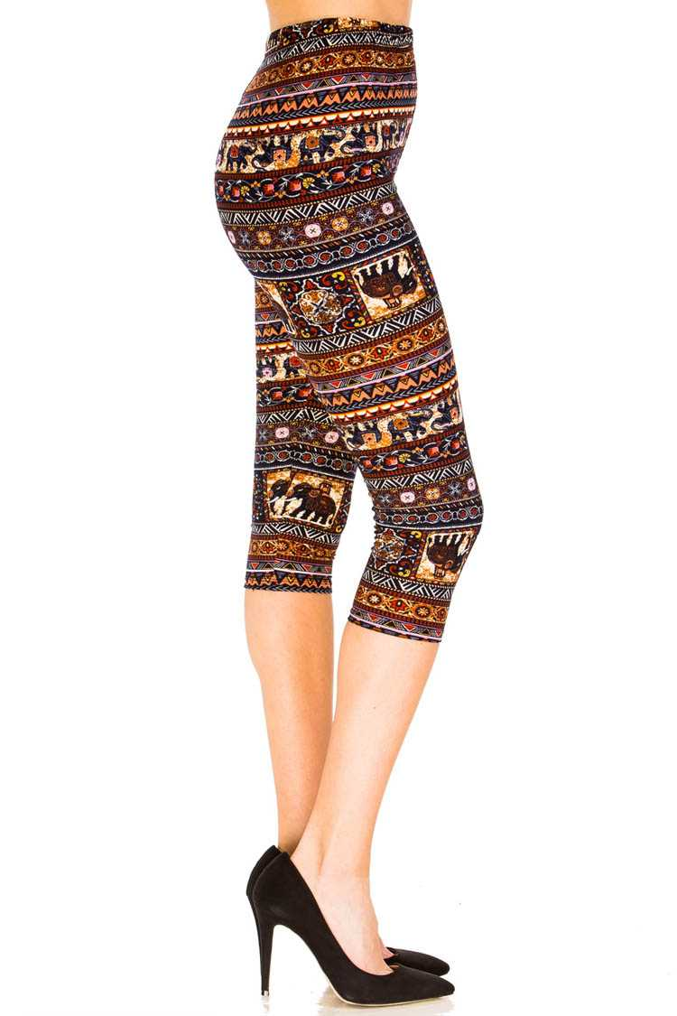 Elephant Party Capri Leggings