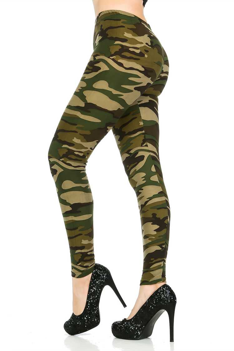 Camo Print Brushed Leggings