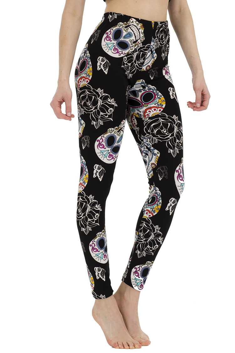 Calavera Print Leggings