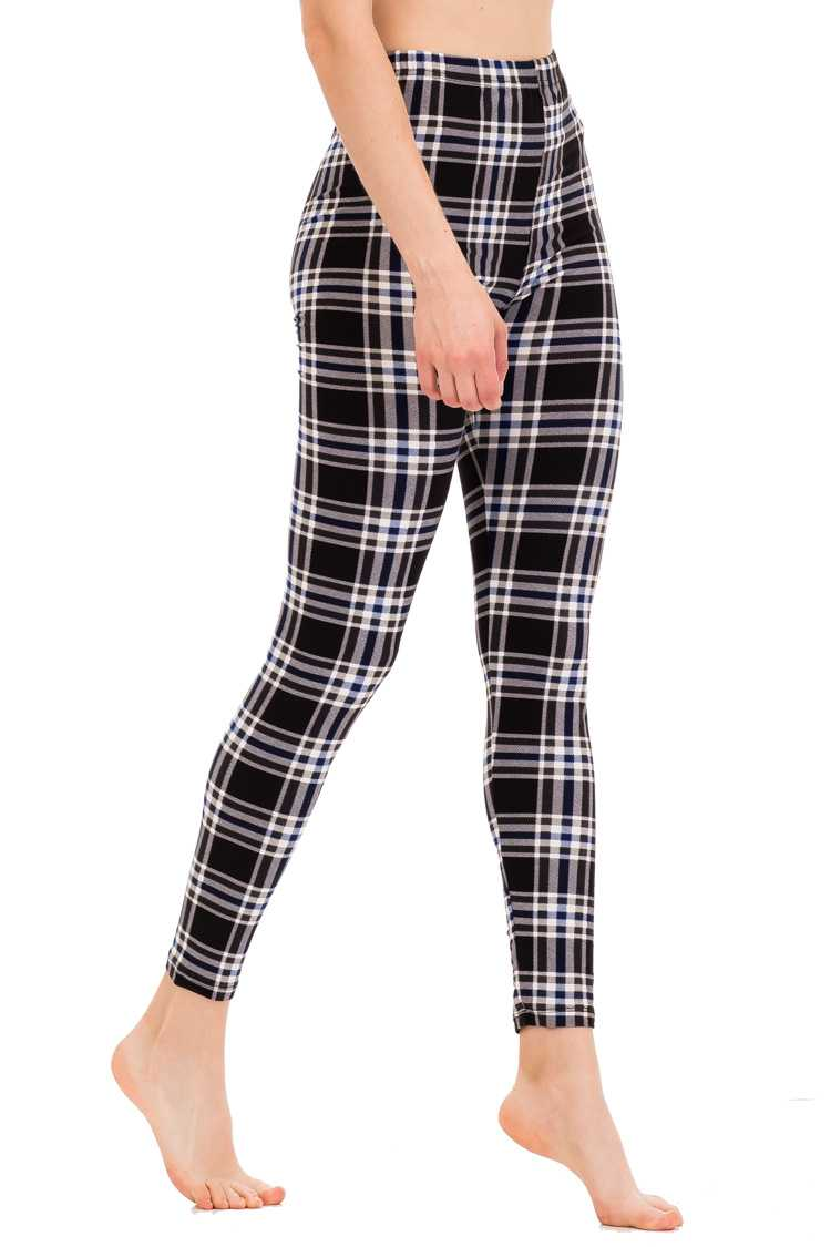 Checker Print Leggings