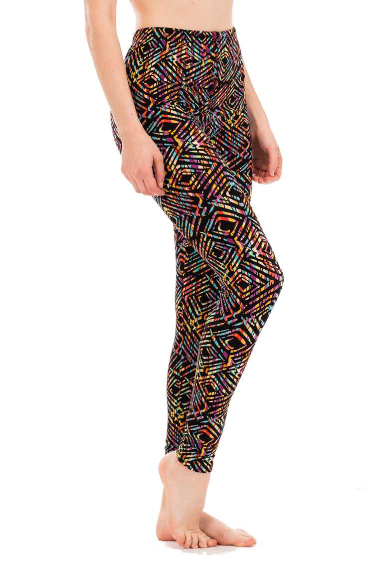Abstract Rhombus Pattern Leggings