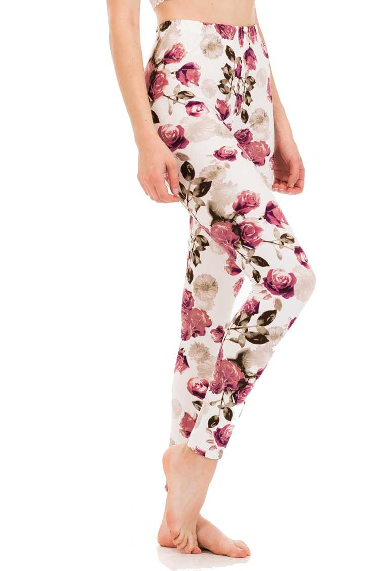 Rose Garden Brushed Leggings