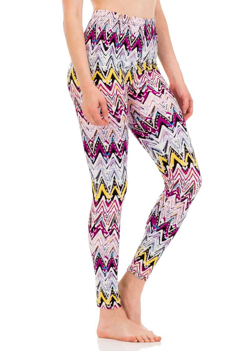 Mix Pallet Chevron Peach Skin Leggings