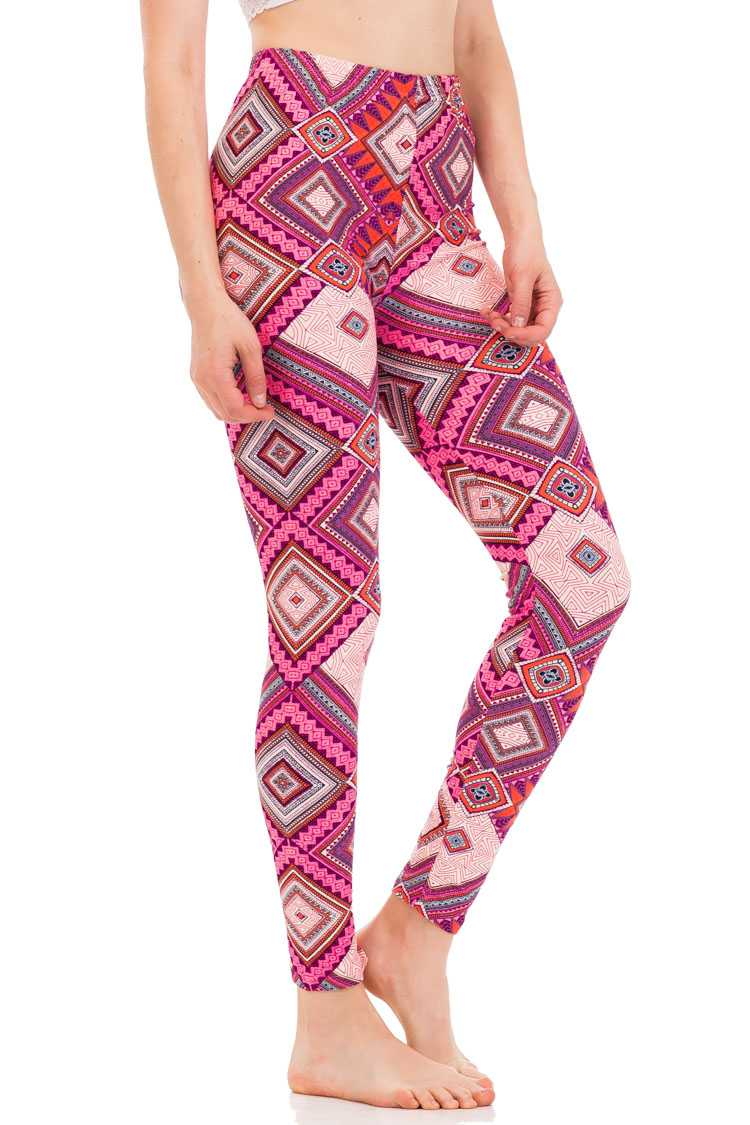 Iconic Rhombus Print Brushed Leggings