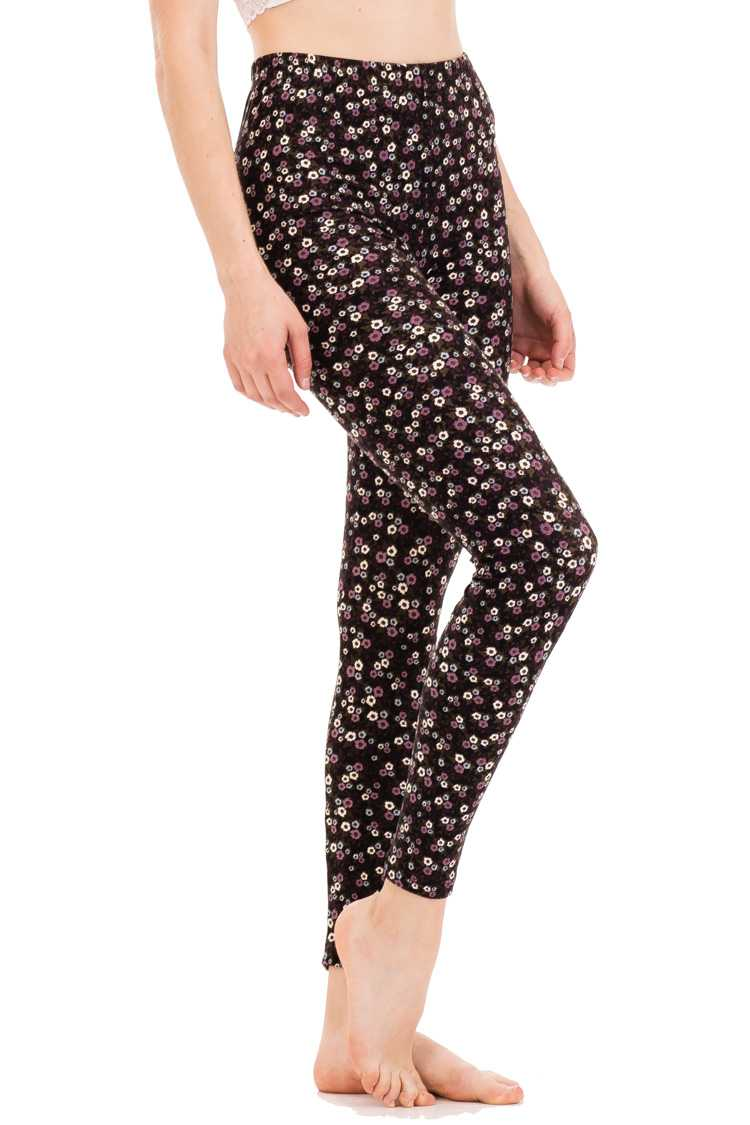 Flower Dots Print Leggings