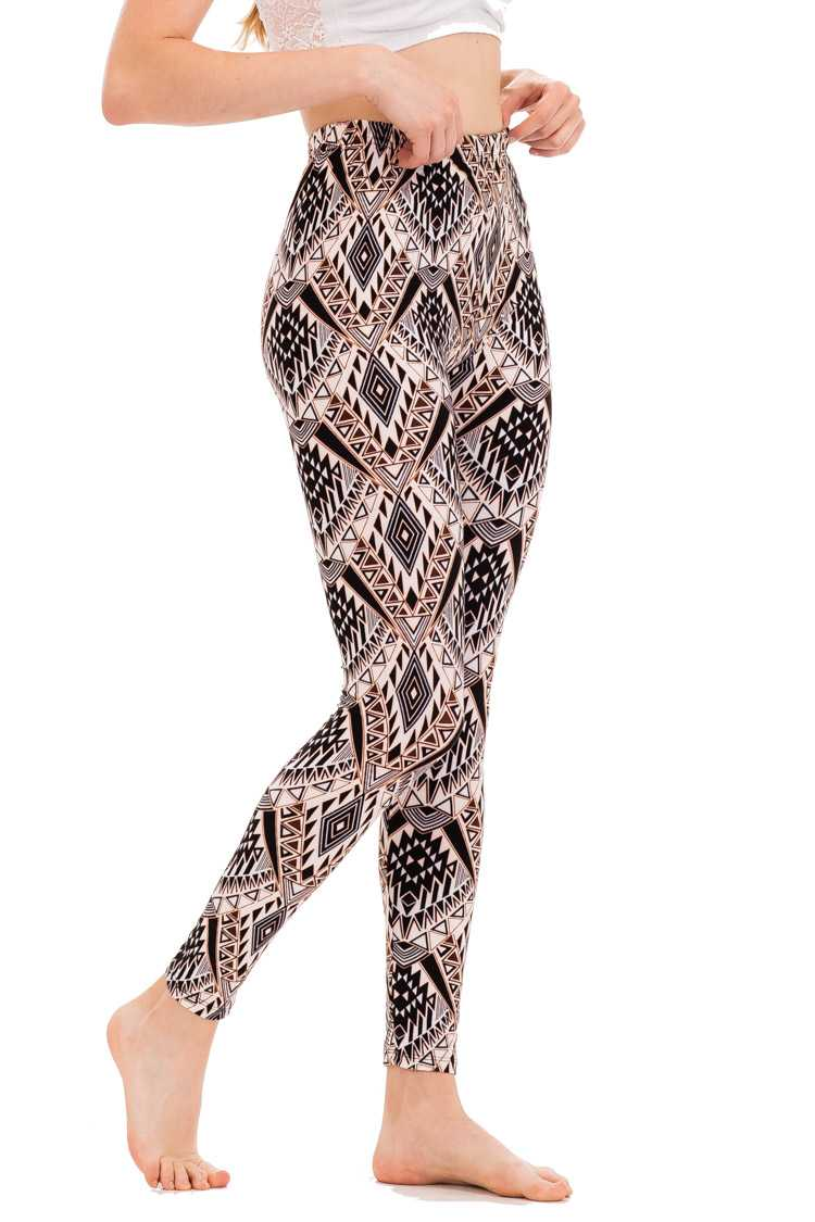 Tribal Print Brushed Leggings