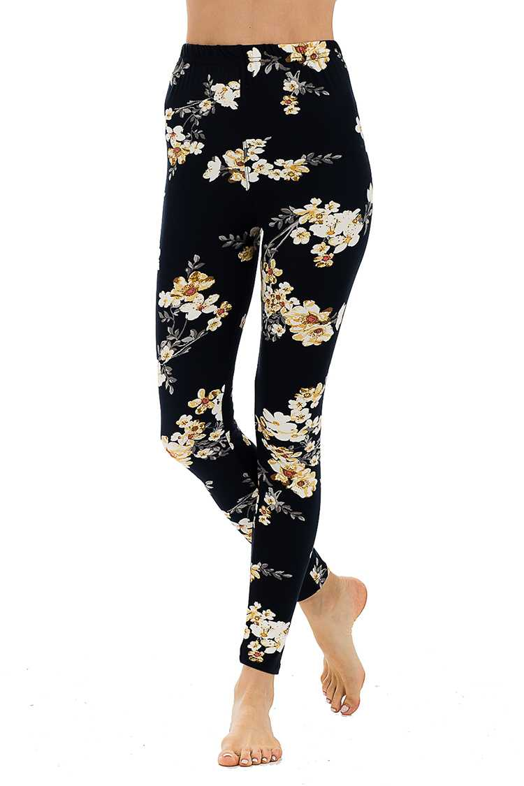 Blushed Floral Print Full Leggings