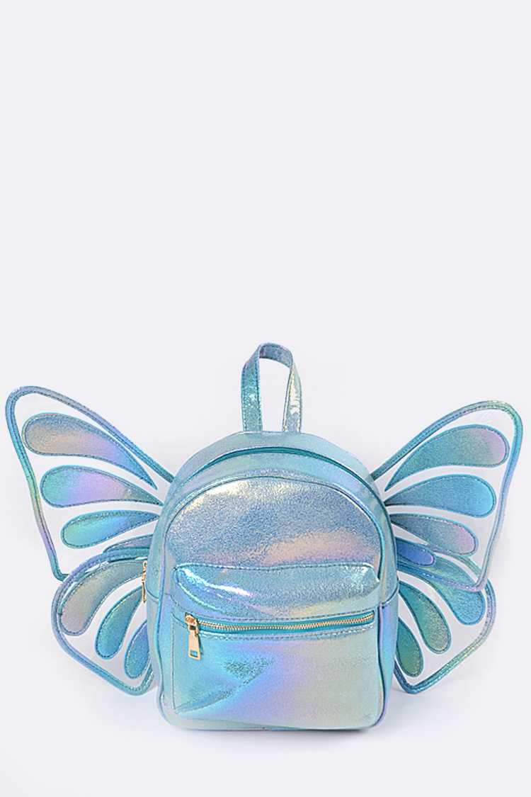 Holographic Convertible Butterfly Back Pack