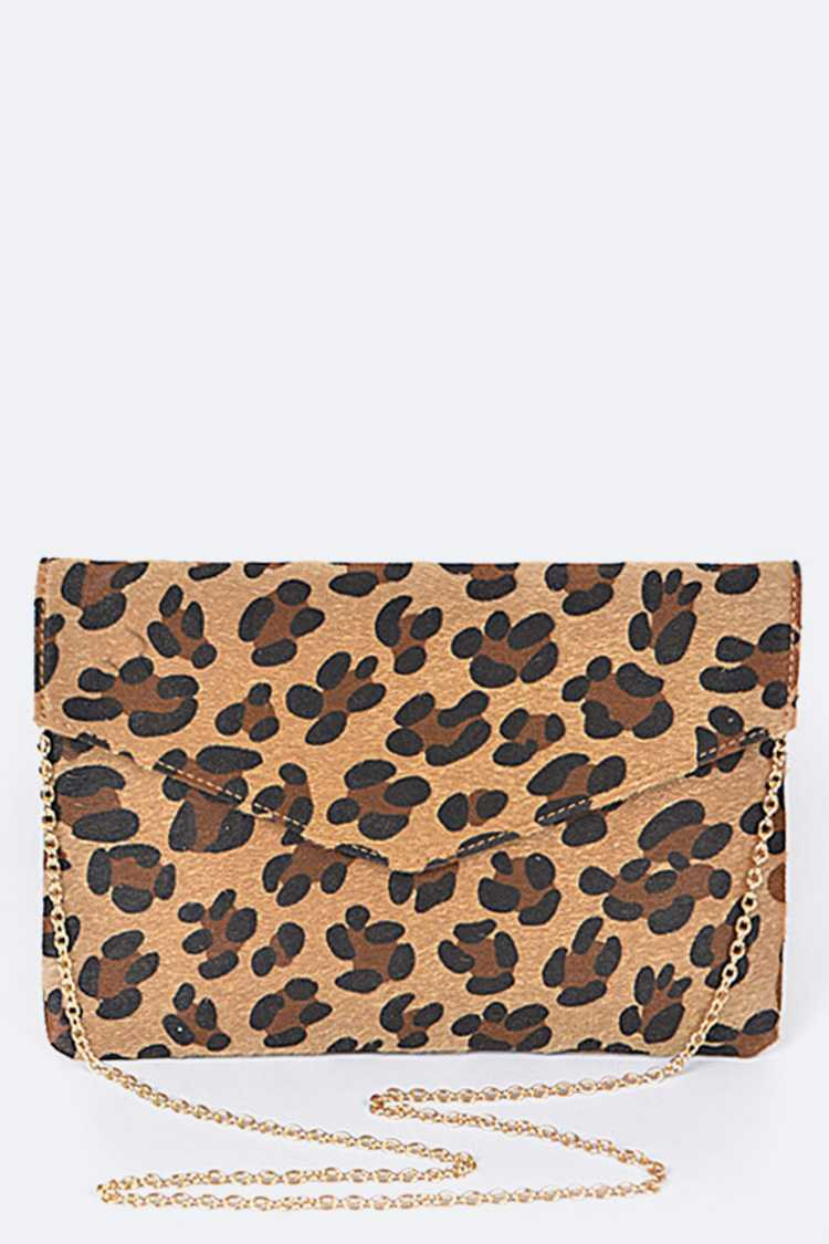 Animal Print Fashion Clutch