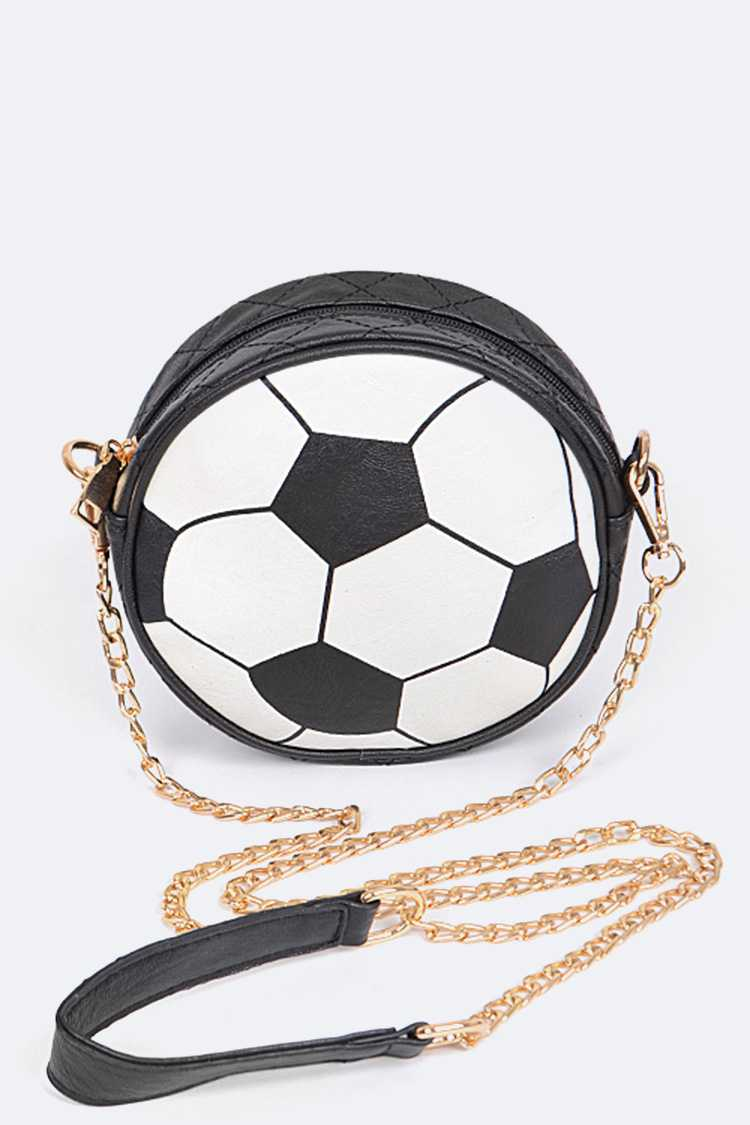 Iconic Soccer Crossbody Clutch Bag