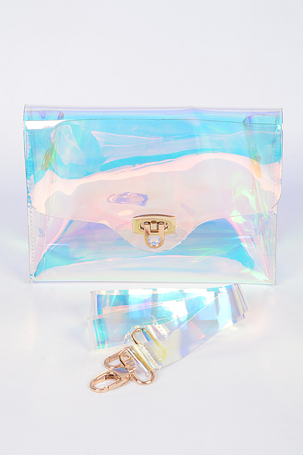 Cleared Shiny Clutch Bag