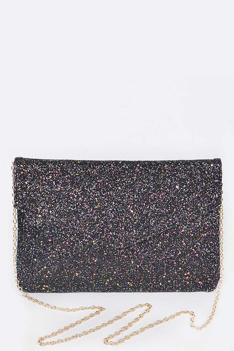 Glittered Go Party Clutch