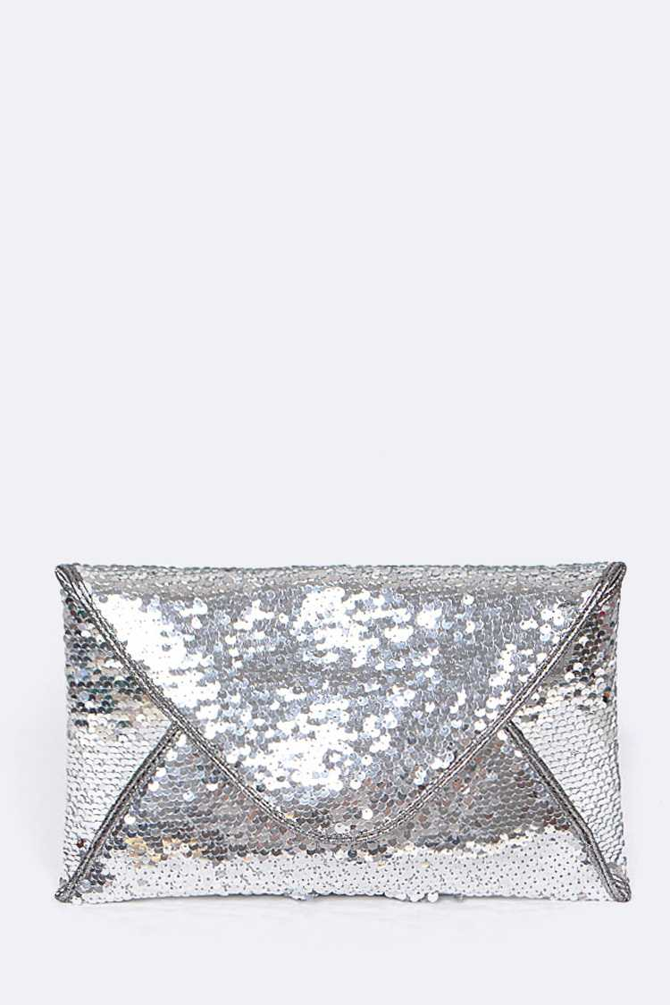 Sequins Envelope Clutch Bag