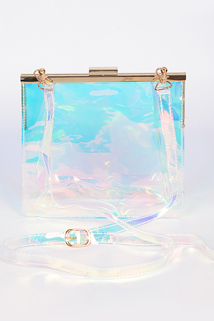 Clear Clutch Shoulder Bag