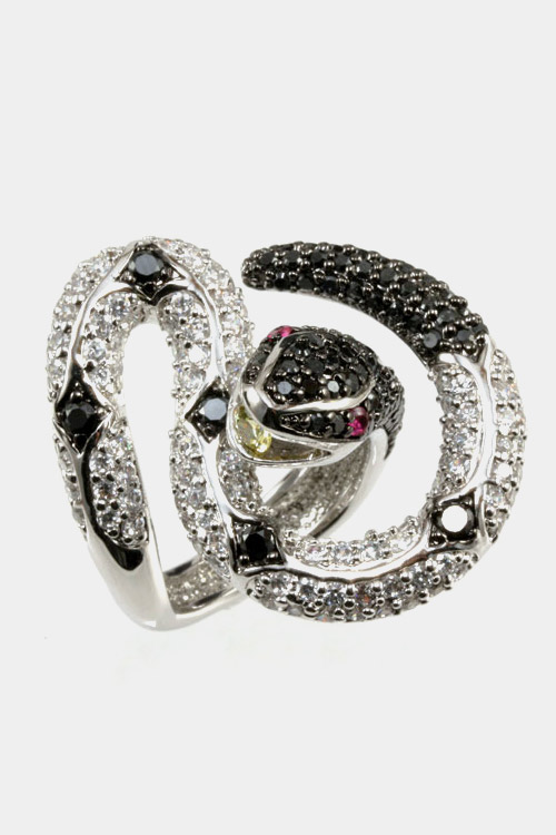 Micro CZ Iconic Snake Ring