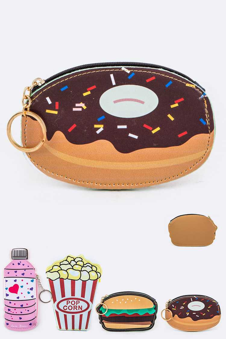 Assorted Food Coin Purses Set