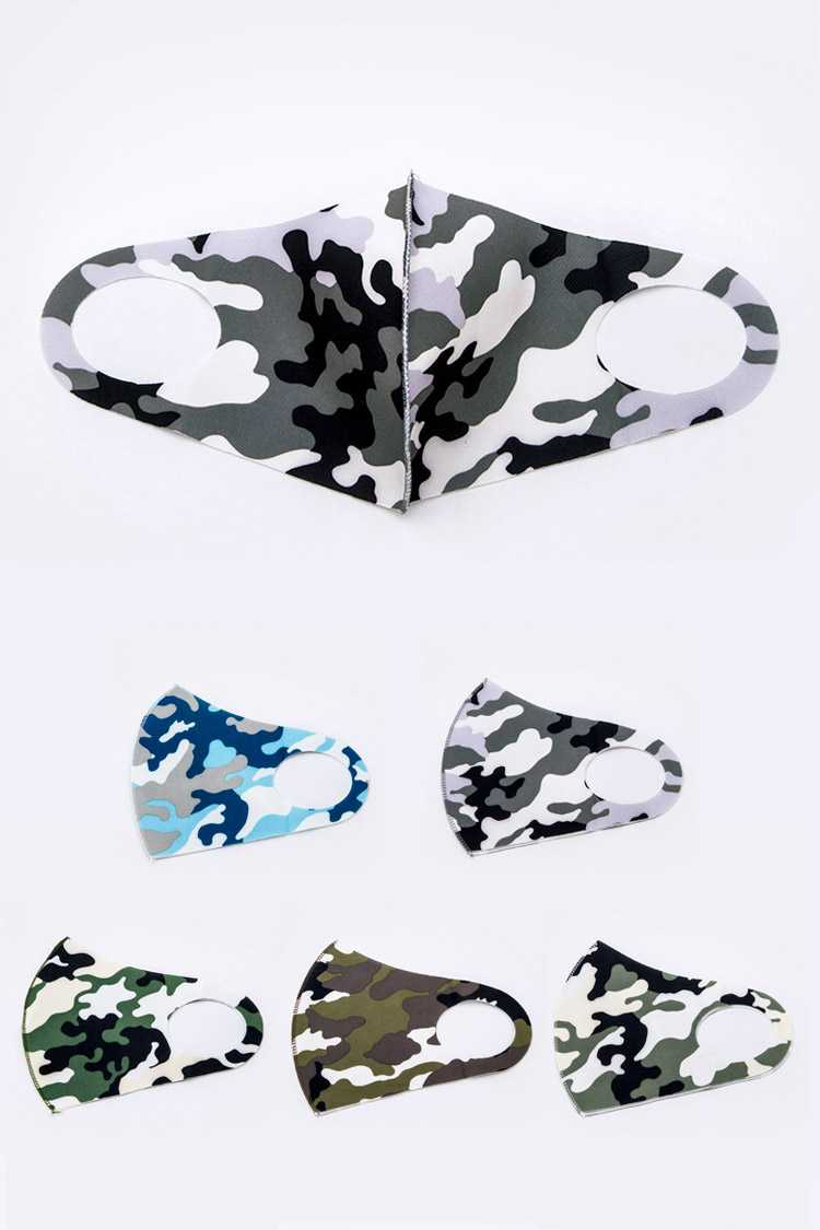 Camouflage Printed Fabric Mask