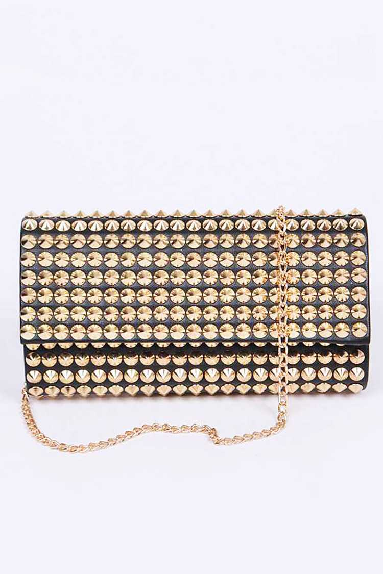 Studded Convertible Clutch Bag