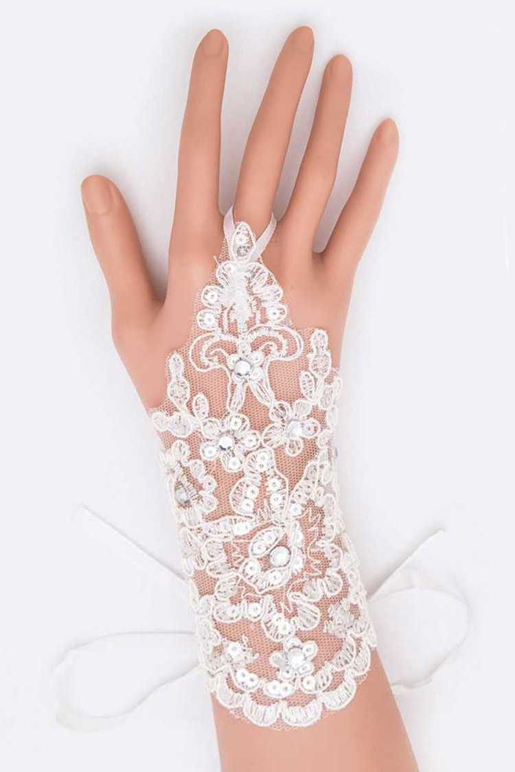 Lace Bridal Fingerless Glove