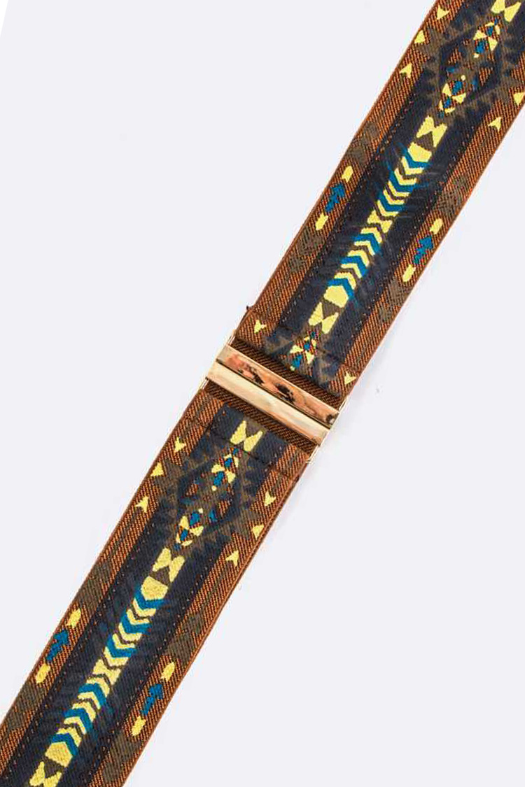 Tribal Print Stretch Belt
