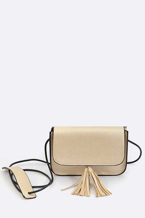 Tasseled Fashion Crossbody Swing Bag