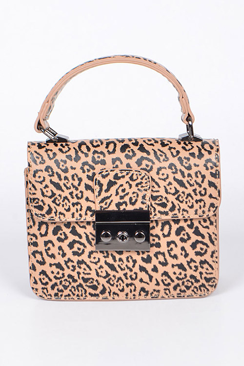Cheetah Printed Structure Convertible Bag