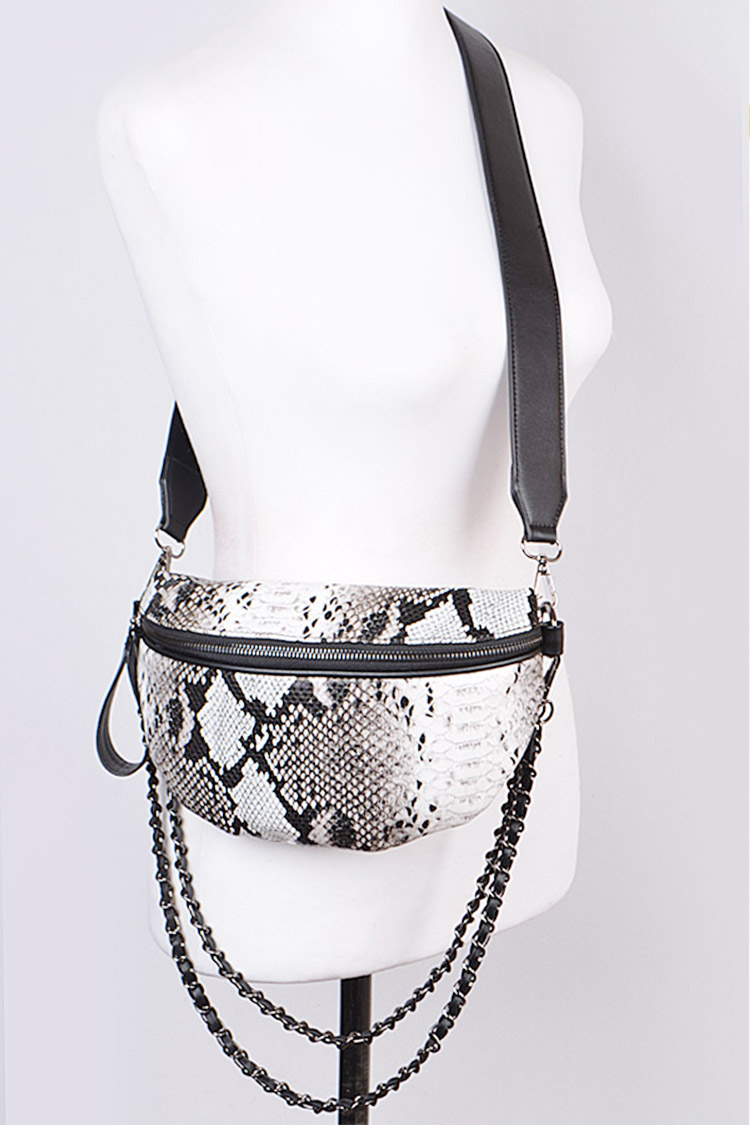 Snake Skin Printed Iconic Convertible Swing Bag