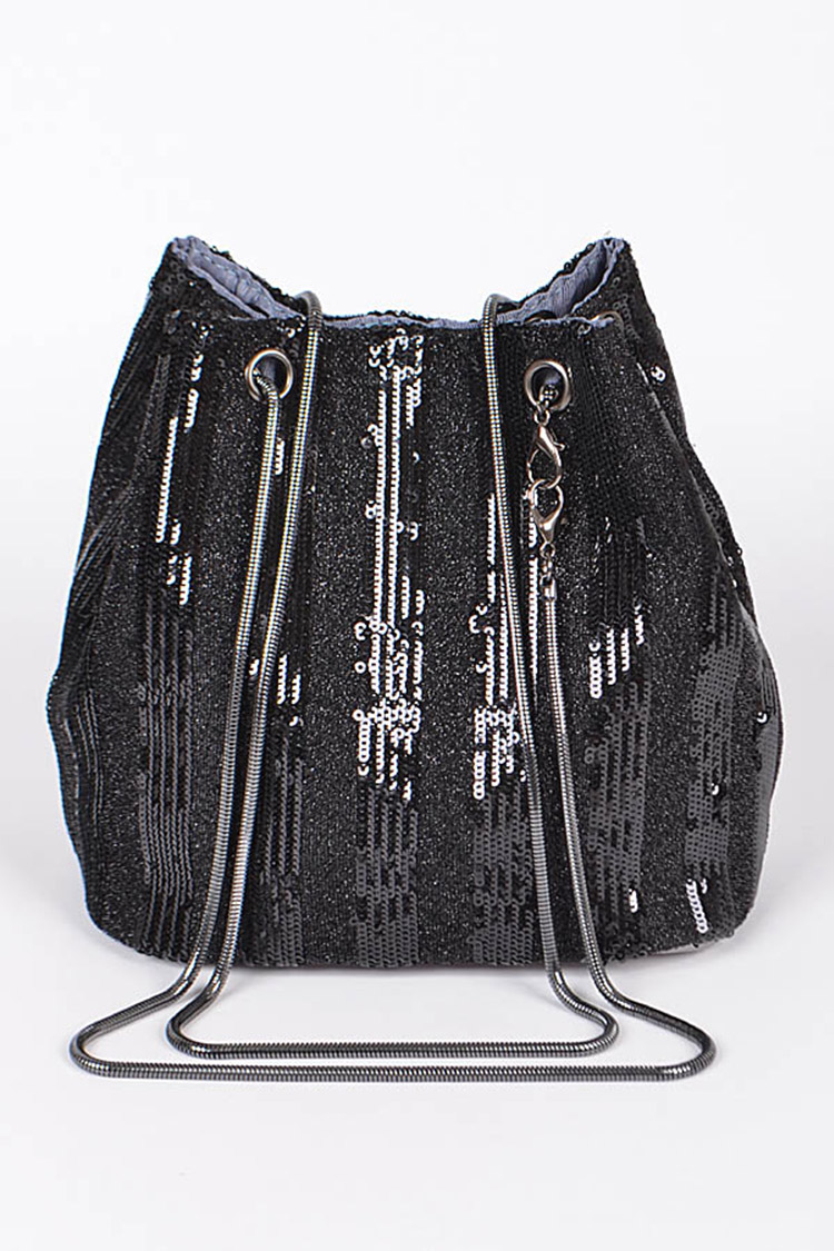 Sequins Metallic Snake Chain Fashion Tote