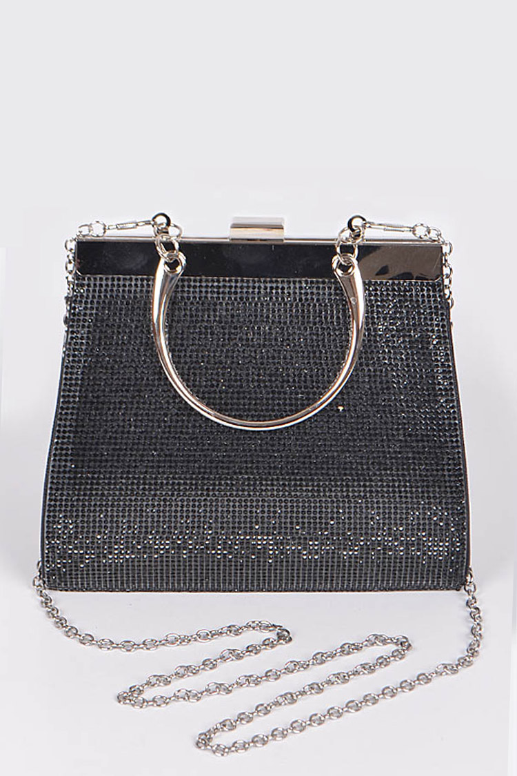 Structured Convertible Party Top Handle Clutch Bag