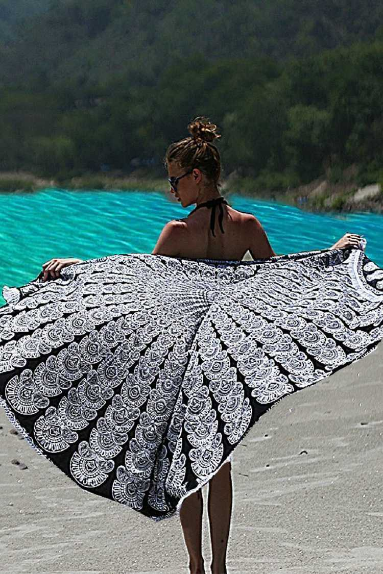 Indie Printed Convertible Beach Throw