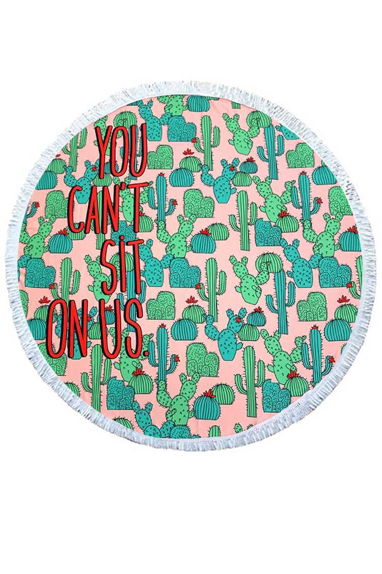 You Can't Sit On Us Cactus Terry Beach Towel