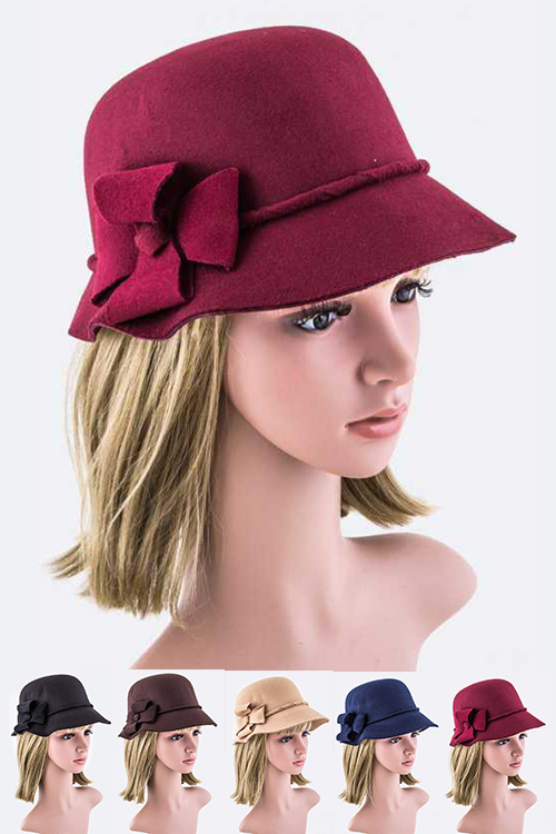 Flower Accent Cloche Hat