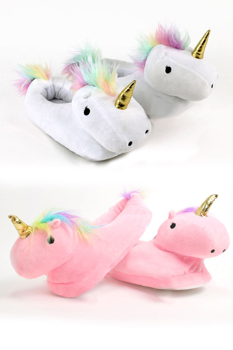 Kid Size Unicorn Indoor Slippers