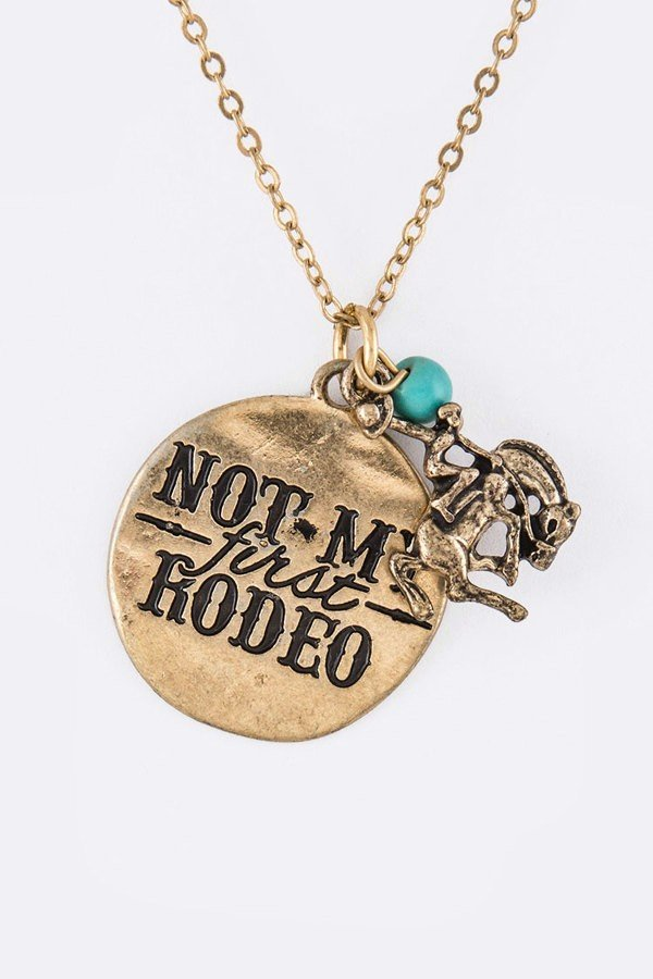 Not My First Rodeo Mix Charms Necklace Set