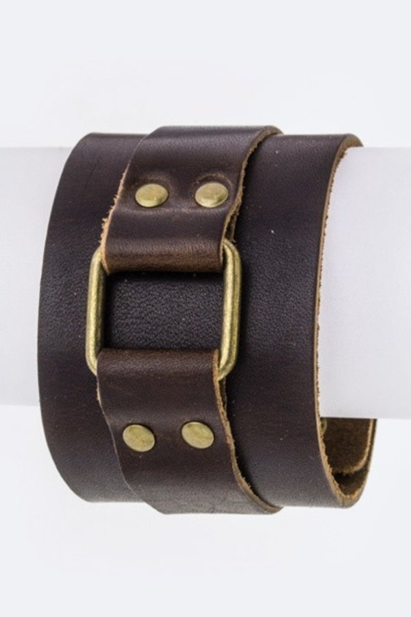 Hinged Layer Leather Cuff