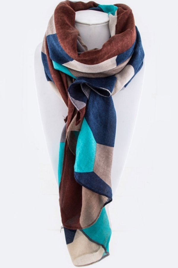 Color Mosaic Fashion Scarf