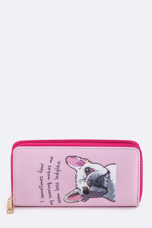 French Bulldog Print Wallet