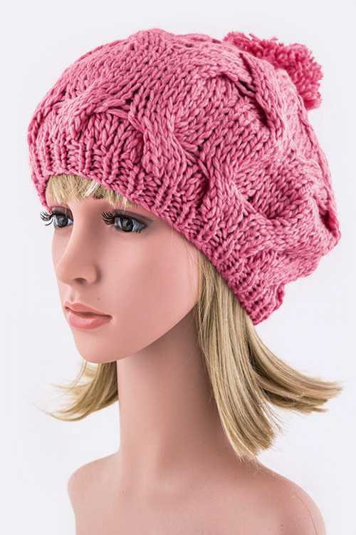 Pom Pom Knitted Painter Beanie