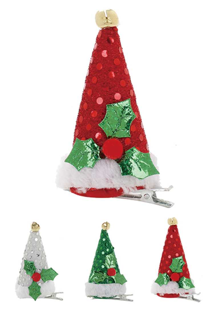 Mini Christmas Hat Hair Clip Set