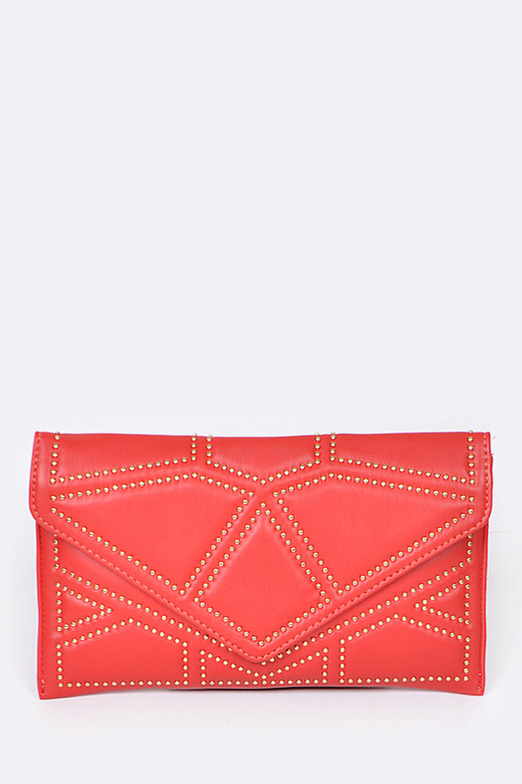 Studded Iconic Clutch Bag