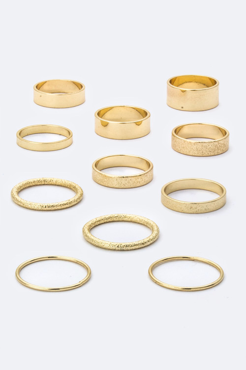 Assorted Metal Rings Set