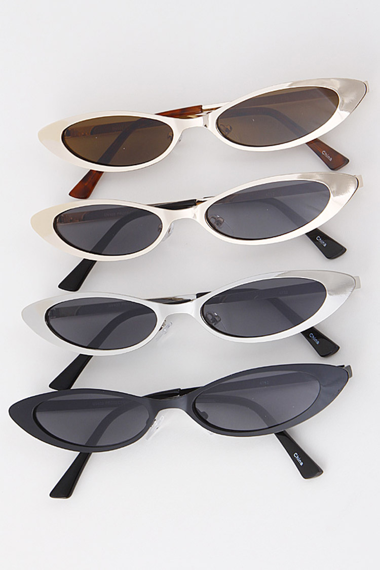 Metallic Skinny Sunglasses Set