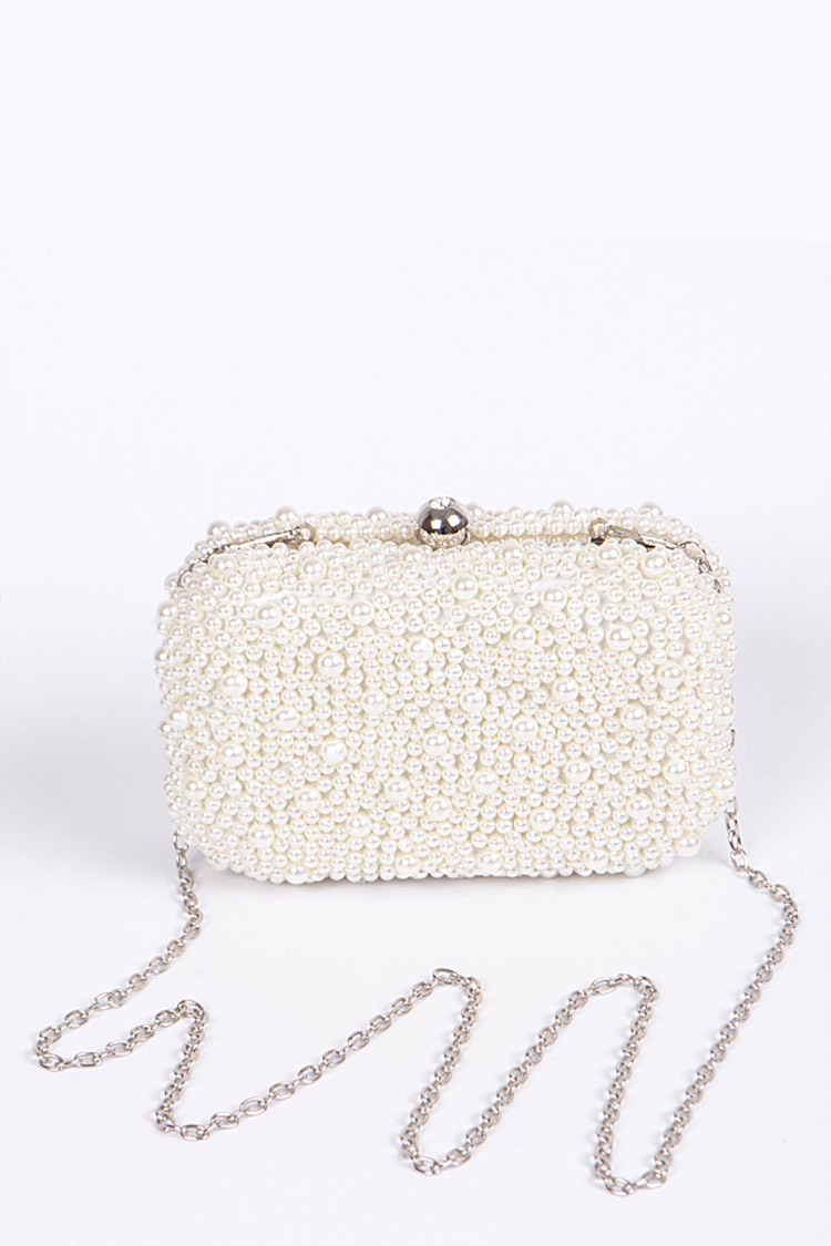 Zillion Pearls Iconic Box Clutch